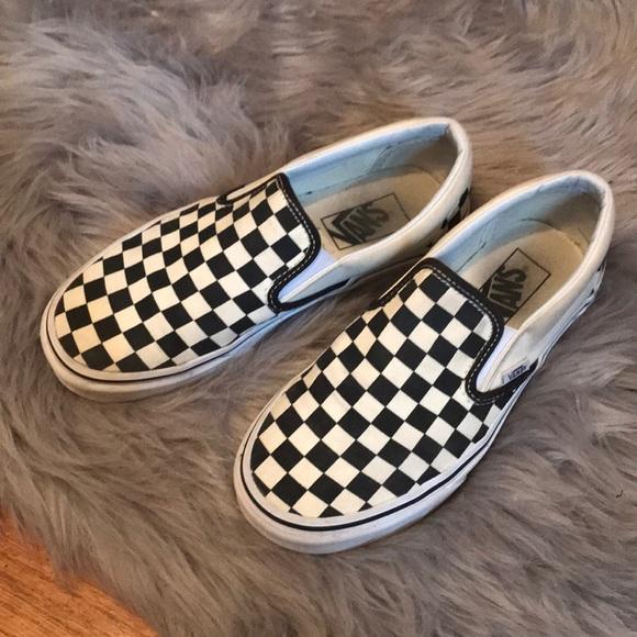 Clean Classic Checkered Vans | Poshmark